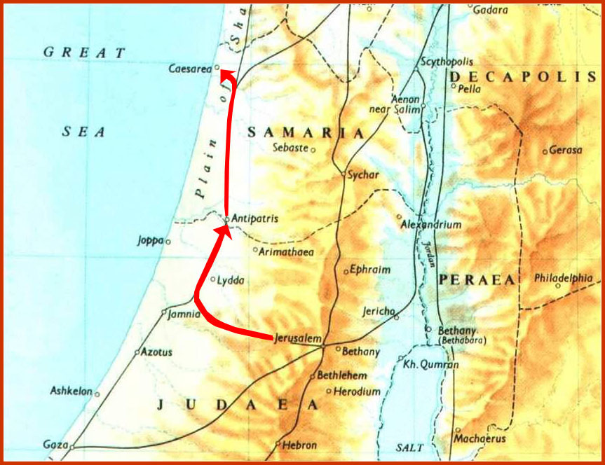 Map to Caesarea copy