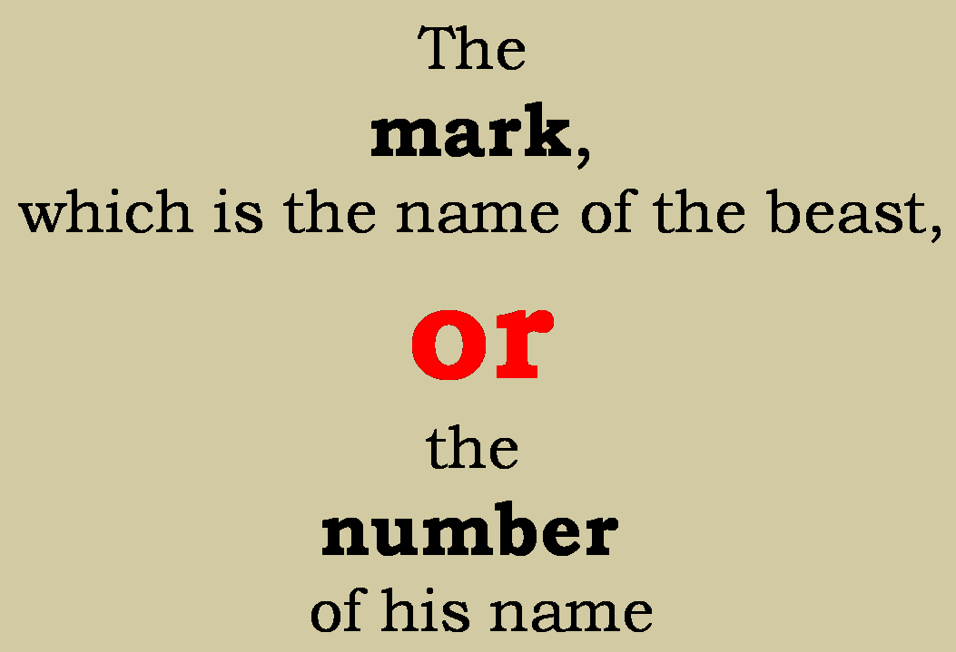 Mark OR Number
