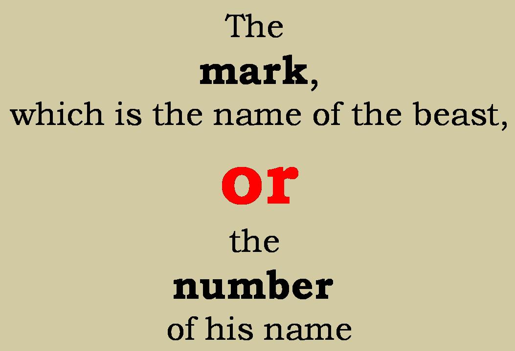 Mark OR Number